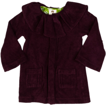 Kate Quinn Organics Pleated Ruffle Jacket - Toddler Girls'
