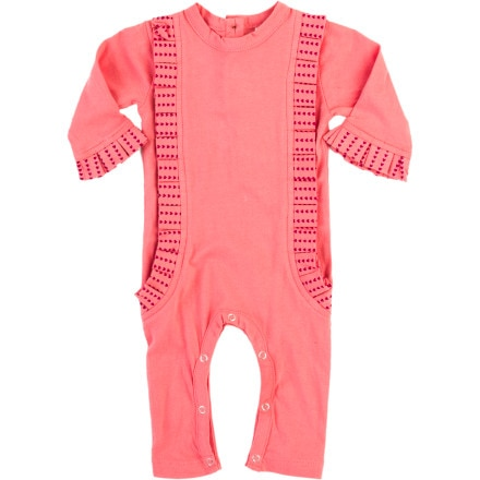 Kate Quinn Organics Pleated Ruffle Jumpsuit - Infant Girls'