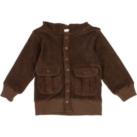 Kate Quinn Organics Terry Toys Pocket Hooded Jacket - Toddler Boys'