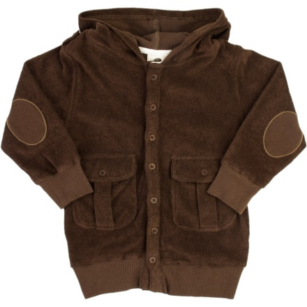 Kate Quinn Organics Terry Boys Pocket Hooded Jacket - Boys'
