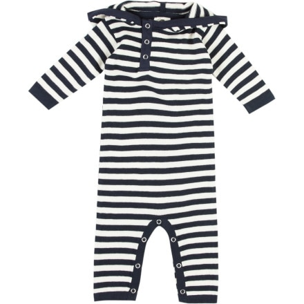 Kate Quinn Organics Sweater Henley Hooded Jumpsuit - Infant Boys'