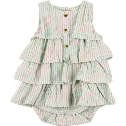 Kate Quinn Organics Tiered Ruffle Dress Bodysuit - Infant Girls'