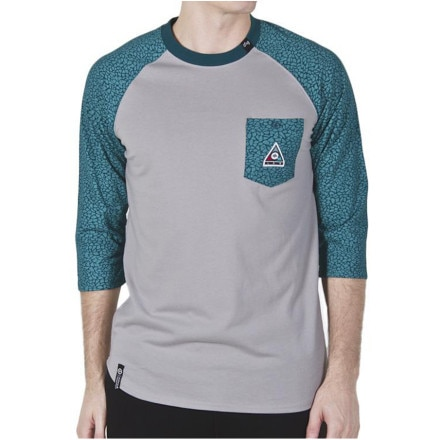 LRG Color Of The Season Baseball Raglan Shirt 3/4-Sleeve - Men's