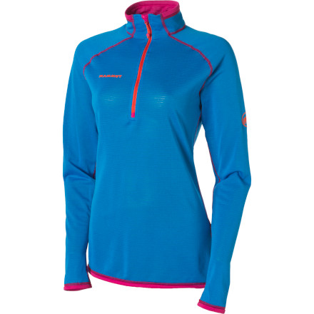 photo: Mammut Schneefeld Zip Pull Light long sleeve performance top