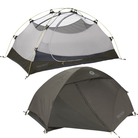 Marmot Earlylight Tent with Footprint and Gear Loft:  2-Person 3-Season