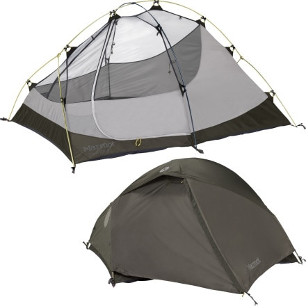 Marmot Twilight Tent with Footprint and Gear Loft: 2-Person 3-Season