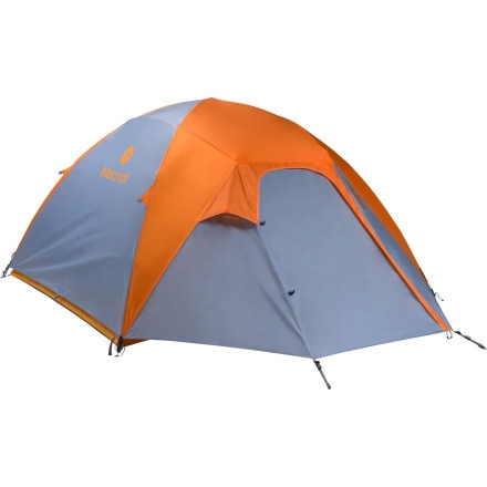 Marmot Limelight 4p Tent: 4-Person 3-Season with Footprint & Gear Loft