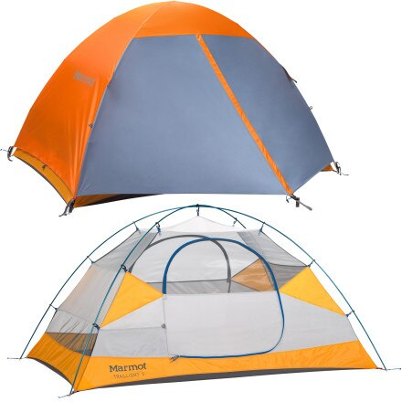 Marmot Traillight 2P Tent with Footprint: 2-Person 3-Season