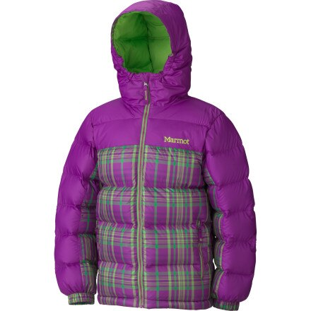 Marmot Guides Down Plaid Hooded Jacket - Girls'