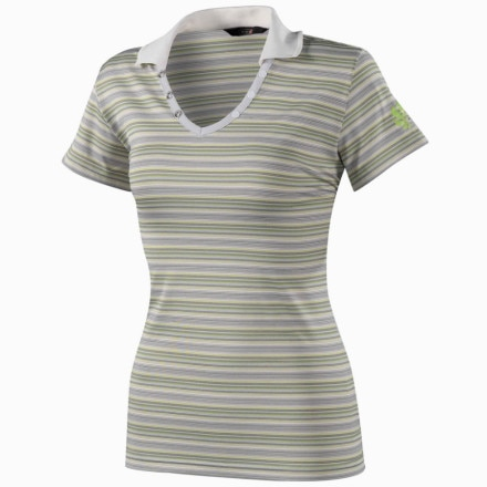 Millet Stripes Polo Shirt - Short-Sleeve - Women's