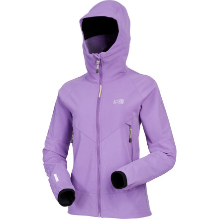 photo: Millet Pro Lighter WDS Hoodie soft shell jacket