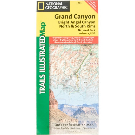 National Geographic Arizona Rock Mountain Maps
