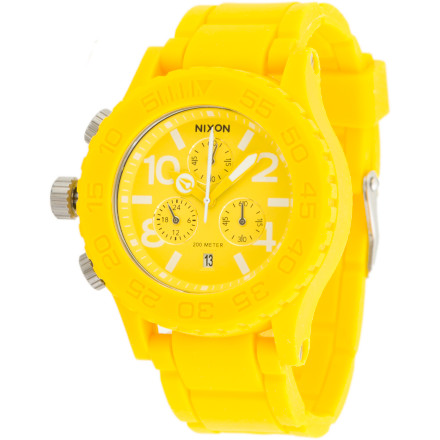 Shop for Nixon Women's Rubber 42-20 Chrono Watch
