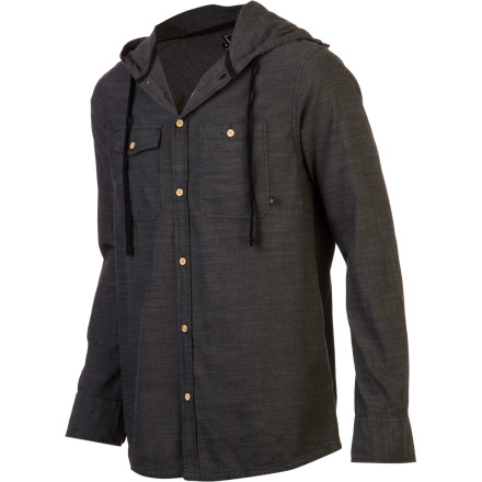 Nomis Chambray Hooded Shirt - Long-Sleeve - Men's