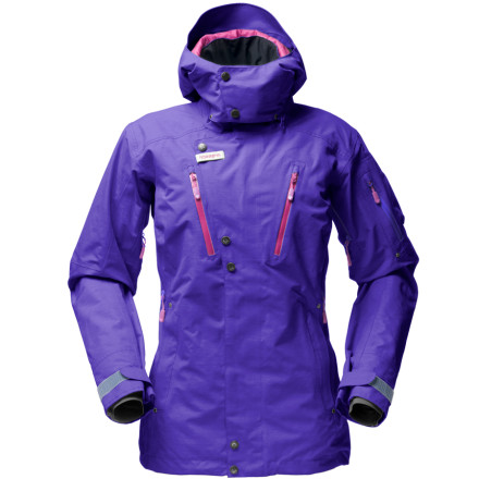 photo: Norrona Women's Roldal Gore-Tex Performance Shell Insulated Jacket snowsport jacket
