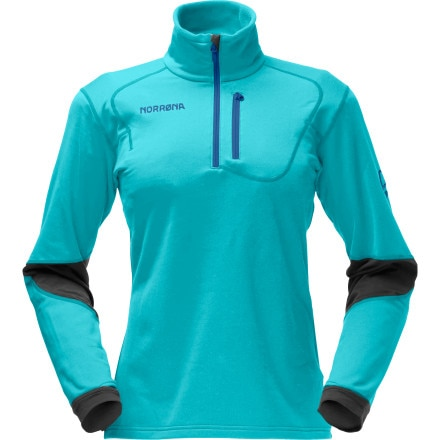 photo: Norrona Women's Trollveggan Warm2 Stretch Pullover fleece jacket