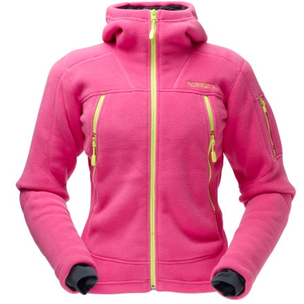 photo: Norrona Women's Narvik Warm3 Zip Hood fleece jacket