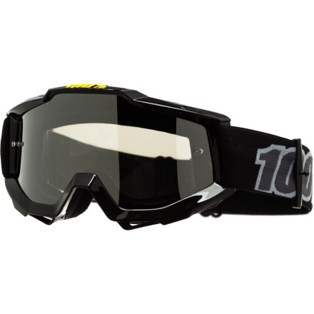 100 ACCURI Goggles Black Silver Mirror Lens One Size