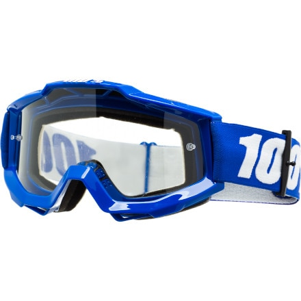 100 ACCURI Goggles Reflex Blue Clear Lens One Size