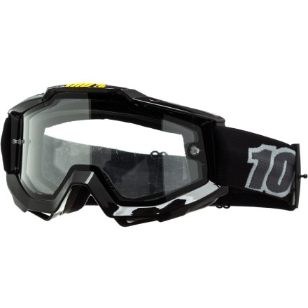 100 ACCURI Enduro Goggles Black Clear Dual Lens One Size