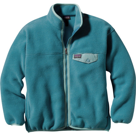 photo: Patagonia Girls' Synchilla Snap-Zip Jacket fleece jacket