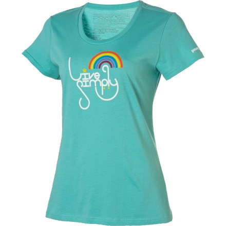 Patagonia Live Simply Rainbow T-Shirt - Short-Sleeve - Women's