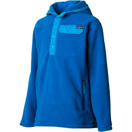 Patagonia Lightweight Snap-T Hooded Fleece Jacket - Boys'