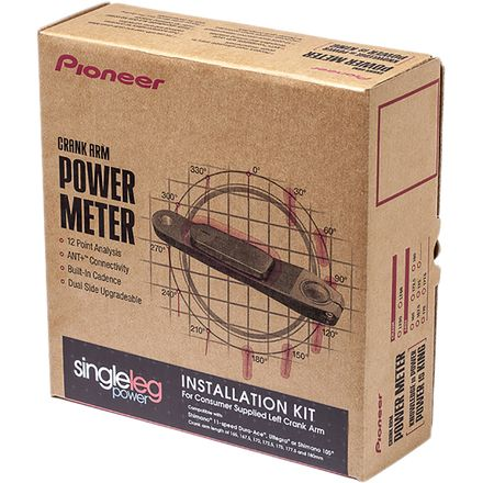 Pioneer Left Arm Power Meter Installation Kit for Consumer Supplied Cranks