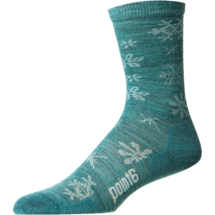 Point6 Flurries Ultralight 3/4 Crew Sock - Women's