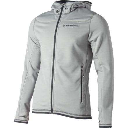 photo: Peak Performance Go Full-Zip Hooded Jacket fleece jacket