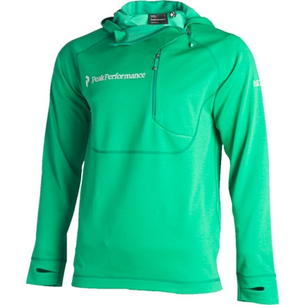 photo: Peak Performance Move Side Zip Hooded Pullover fleece top