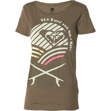 Roxy Surfin Sand T-Shirt - Short-Sleeve - Women's