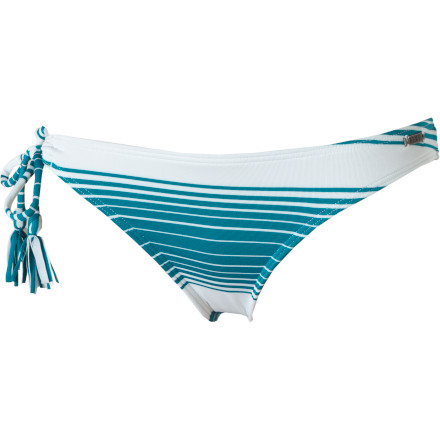 Roxy Indian Beach 70's Lowrider One Tie Side Bikini Bottom - Women's