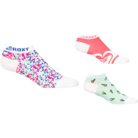 Roxy Hot Fudge Sundae Socks - 3 Pack