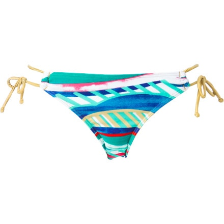 Roxy Golden Maze '70s Lowrider Tie Side Bikini Bottom - Women's