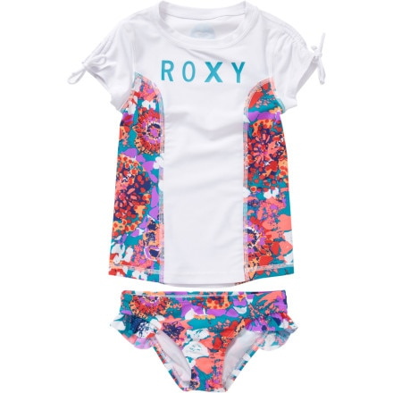 Roxy Running Wild Wave Rush Rashguard with Bottom - Short-Sleeve - Girls'