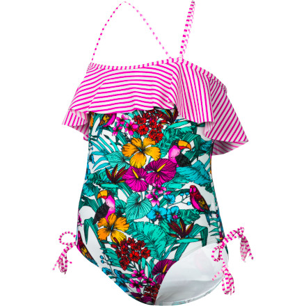 Raisins Parrot Jungle San Diego One-Piece Swimsuit - Girls'