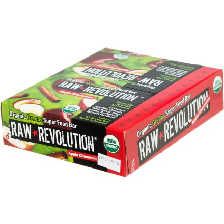 Raw Revolution Organic Greens Superfood - 12 Bars