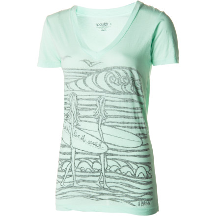 Rip Curl Surf Chicas V-Neck T-Shirt - Short-Sleeve - Women's