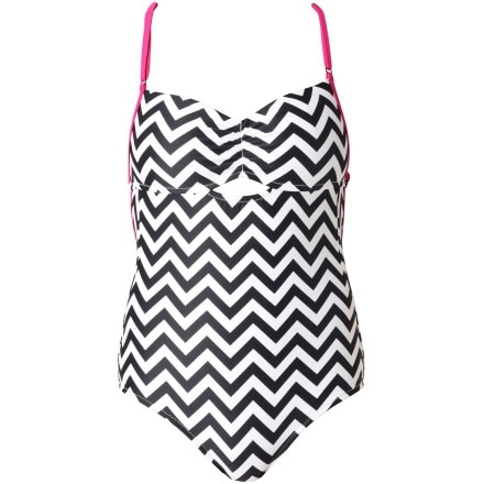 Roxy Outdoor Fitness Deep Sea One-Piece Swimsuit - Women's