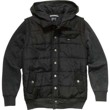 RVCA Puffer Fleece Hooded Jacket - Boys'
