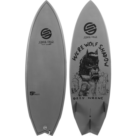 Santa Cruz Ozzie Wright Pro Model - Werewolf Shadow Surfboard