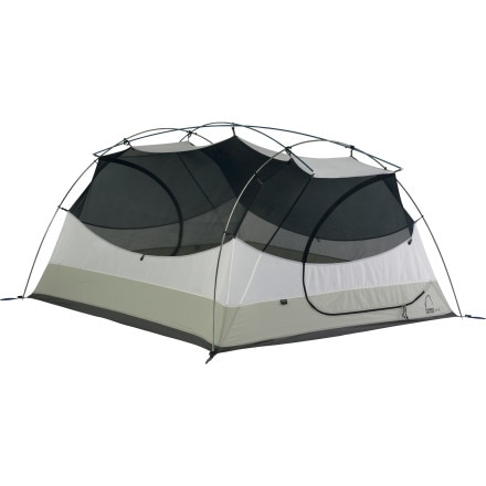 Sierra Designs Zia 3 Tent with Footprint and Gear Loft: 3-Person 3-Season