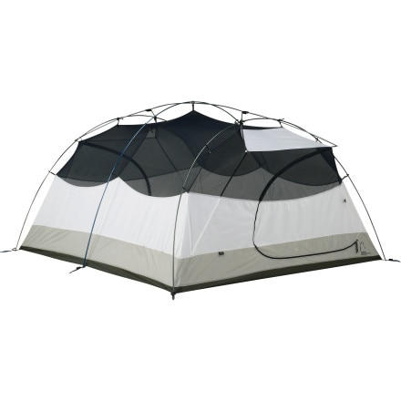 Sierra Designs Zia 4 Tent with Footprint and Gear Loft: 4-Person 3-Season