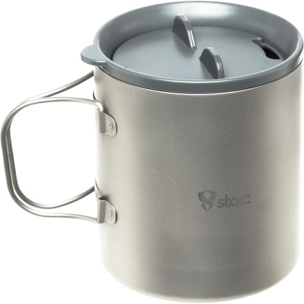 Stoic Ti Double Wall Mug w/Lid - 600ml
