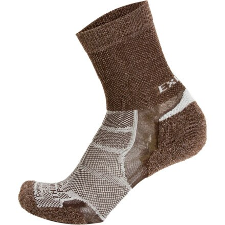 Thorlos XWXU Thin Cushion Experia Merino Wool/Silk Crew Sock - Discontinued