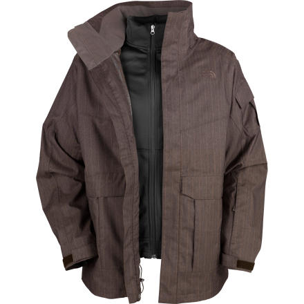 photo: The North Face Hustle Stripe TriClimate Jacket component (3-in-1) jacket