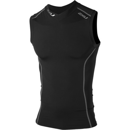 photo: 2XU Sleeveless Compression Top short sleeve performance top