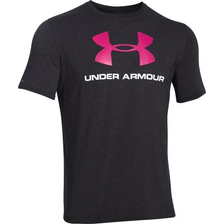 Under Armour Power In Pink Charged Cotton Logo Shirt ...