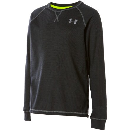 photo: Under Armour Boys' Catalyst Waffle Crew long sleeve performance top